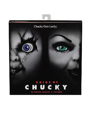 """NECA - Bride of Chucky 7"""" Scale Action Figure - Ultimate Chucky & Tiffany 2-Pack"""