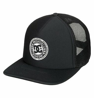 Dc Shoes Mens Baseball Cap.new Black Vested Up Semi Curved Peak Trucker Hat 9S 3