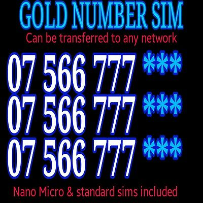 Gold Mobile Number 777 Vip Sim Platinum   Diamond Personal Business