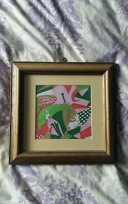 New original handdrawn wallhanging with frame home crafts art
