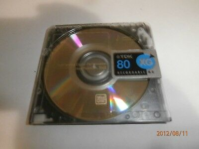 "1x TDK MINI DISC ""XG"" 80min RARE 80 MINUTES MINIDISC RECORDABLE- ONLY $2 POSTAGE"