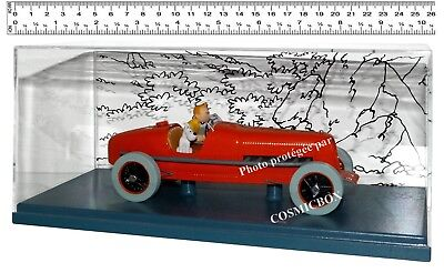 TINTIN & SNOWY sport race red car figures CIGARS of the PHARAOH amilcar 10 inch