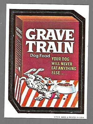 1967 Topps Wacky Packages Original Die Cut GRAVE TRAIN #33