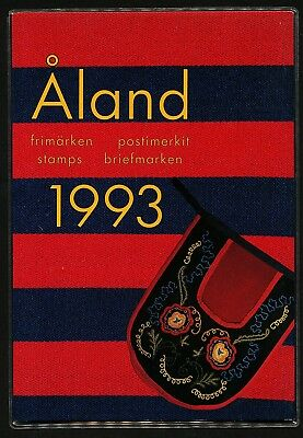 Aland Finland 1993 Year set complete incuding booklet in official folder.  MNH