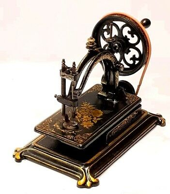 COLLECTORS!!! rare Antique Sewing machine HURTU LA MERVEILLOUSE 1878 Nähmaschine