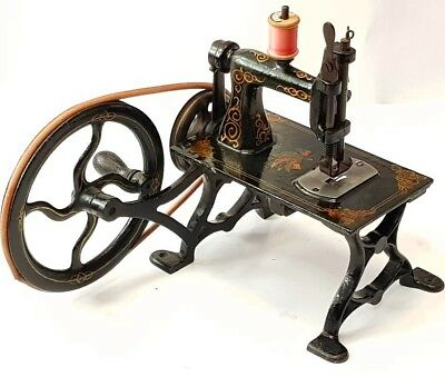 TOP!!!!! antique sewing machine AMERICAN GEM circa 1879 USA alte Nähmaschine