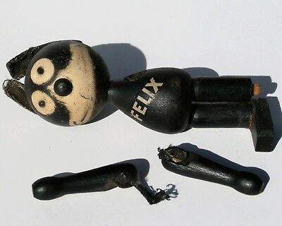 Wooden Jointed Felix The Cat , Pat Sullivan 1922-1924 for Parts or Restoration