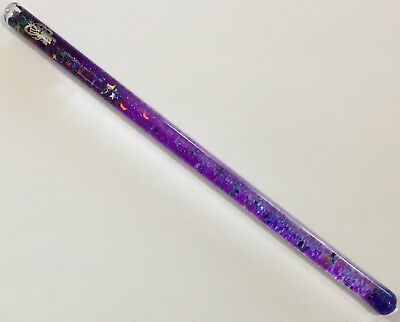 Vintage 1989 Wildewood Space Tubes Purple & Blue Glittery Wand Made In Usa Glows
