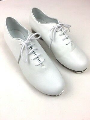 Steven Stompers Dance Class Tap Shoes Clogging White Leather Lace Up Women's 10