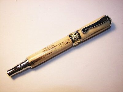 Price Reduction-Handmade Nouveau Septre Rollerball Pen in Spalted Pecan Wood-506