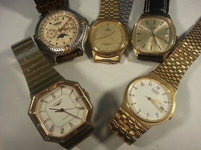 5 Watches For Parts Or Repairs, H.samuel, Longines, Ronson, Lorus, Citizen,