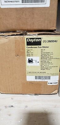 Dayton 3M994 3M994J Condenser Fan Motor - 1/2HP 1075RPM / 1PH 230VAC - NEW!