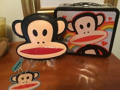 Paul Frank Julius Die Cut Zipper Coin Purse & Regular Size Julius Lunchbox (New)