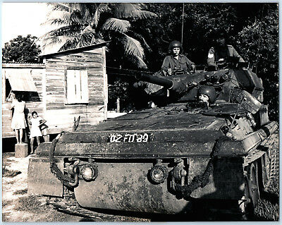 Scorpion Tank C Squadron in Belize Village Official 1977 British Army Photo