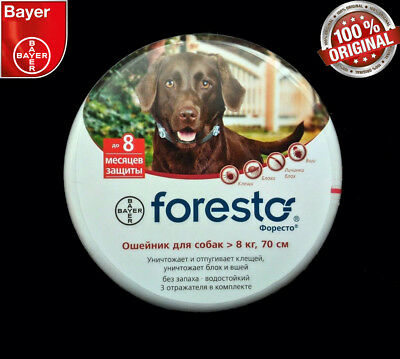 Bayer Foresto, Seresto Flea & Tick Collar for Large Dogs above 8kg (18 lbs)
