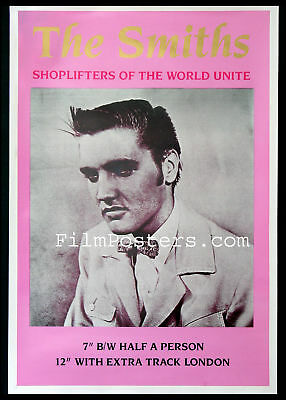 The Smiths Shoplifters Of The World Unite Elvis Presley Vintage 1987 Promo