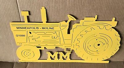 minneapolis moline G 1000 tractor Metal Cut Out