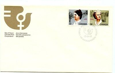 Canada FDC #1047-48 Canadian Feminists 1985 Pair 38-1