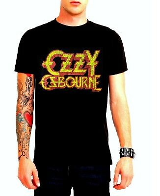 Ozzy Osbourne T-Shirt Logo Black Sabbath metal rock Official L Last NWT