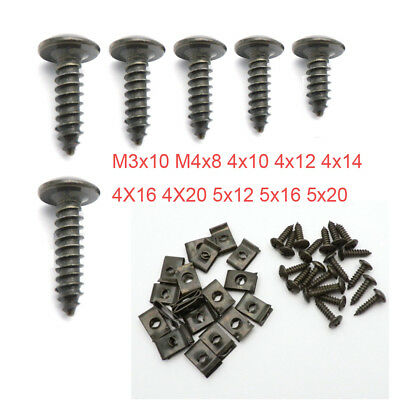 20pcs Motorcycle Plastic Body Self-tapping Screw & Clips M4 M5 for Scooter Moped