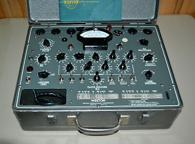 WESTON 981-Type 3, Vacuum Tube Tester - Restored & Calibrated. Original Manual.
