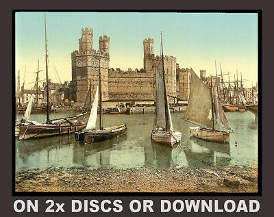 PRINT & SELL c1900 WALES / WELSH LARGE COLOUR PHOTOCHROMS 2x DISCS or DOWNLOAD