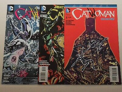 Catwoman #8,14 & annual 2 (2012 - 2015) 3-Issue Comic Lot ~  DC New 52!  ~ NM ~