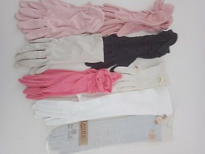 VINTAGE Womens Beautiful Gloves BULK LOT Great Deal Size 6.5 Some Never used