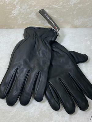 Mens Luxury Fashion Deerskin Driving Gloves Lined 40 Grams Thinsulate Lg. Black