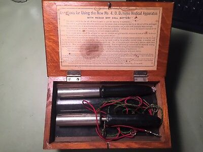 QUACK MEDICAL DEVICE ELECTRO-SHOCK - No1 Home Apparatus w/ Mesco Battery Ad