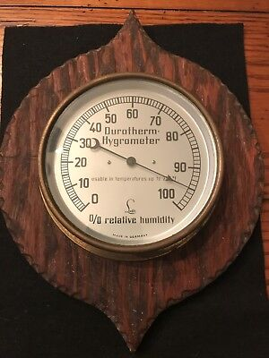 Vintage Lufft Durotherm Hydrometer, % Relative Humidity German Made