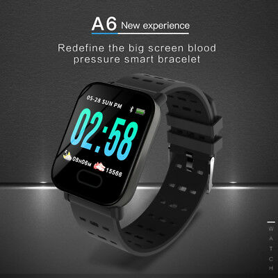 A6 Waterproof Smart Watch Heart Rate Monitor Bracelet Wristband for Android CA