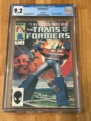 The Transformers #1 - 2nd Printing - CGC 9.2 White Pages (Sep 1984, Marvel)