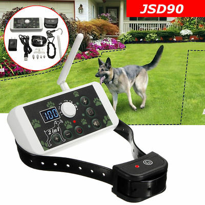 Wireless Electric Pet Dog Fence Containment Systems Transmitter Rechargeable