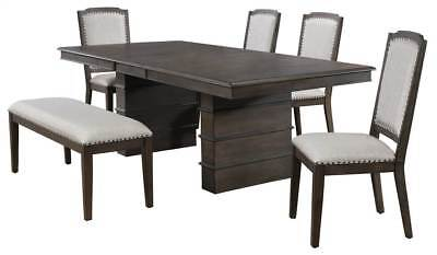 6-Pc Dining Set in Gray and Brown [ID 3793268]