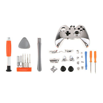Replacement Housing Shell Kit for Xbox One Controller Screwdriver Silver