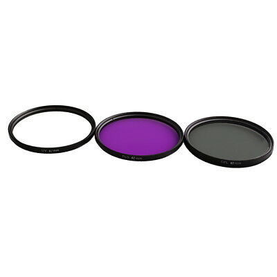 67mm Multi Coated Glass Filters Kit: UV+CPL+FLD Lens Filter for Canon Nikon