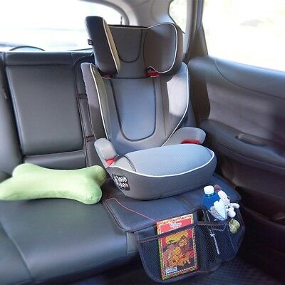 Black Leather Infant DuoMat Car Seat Mat Protector Baby Pad Waterproof CA Local