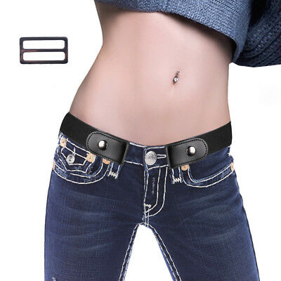 Buckle-Free Elastic Invisible Waist Belt No Buckle Stretch Belt for Jeans Women