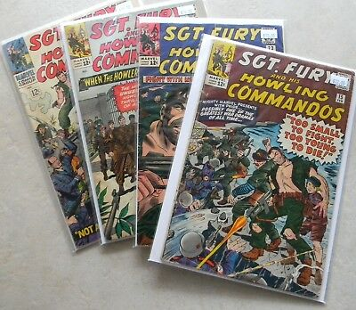 Sgt Fury #15 23 24 28 $49.00 LOT (1965-up, Marvel) NAZI SOLDIER COVER 50% off!