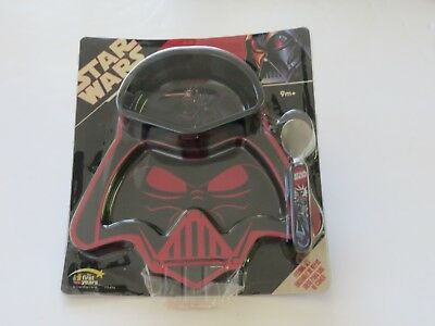 STAR WARS FEEDING SET UNOPENED IN BOX BOWL, PLATE and SPOON set 9m+