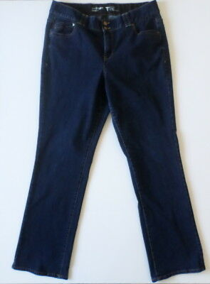 Lane Bryant Womens Jeans Plus 18 Tall Tighter Tummy Tech Straight 34 Inch Inseam