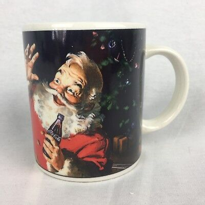 Coca Cola Santa Christmas Coffee Mug Surprise Helicopter Toy Train 2002
