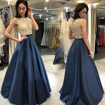 New Womens Long Formal Evening Party Bridesmaid Prom Ball Gown Skater Maxi Dress