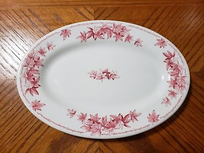 Vintage Shenango China RED MAPLE LEAF Restaurant Ware Platter