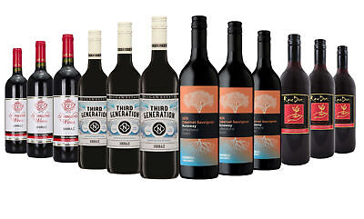 Australia Day Varietal Shiraz & Cabernet Mixed Red Wine Mixed 12x750ml Free Ship