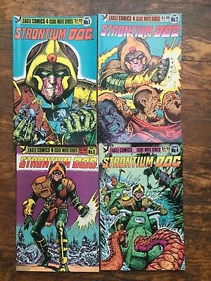 Strontium Dog #s 1-4, Complete Series,Eagle Comics-VF/NM,Combined Shipping!