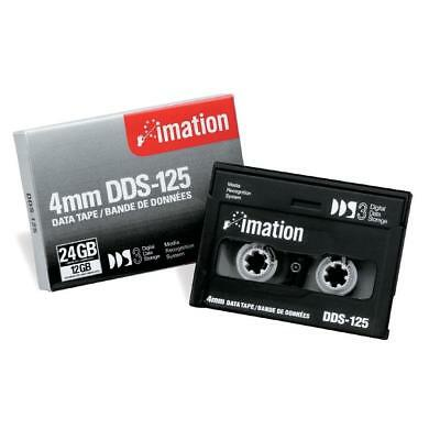 5x Imation 4mm DDS-125 24/12gb DAT DATA TAPE DDS-3