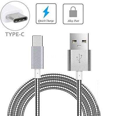 Metal Spring Lightning Cable Micro USB Type C  Charger iPhone Samsung Universal