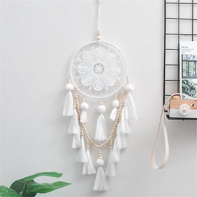 White Handmade Dream Catcher Wind Chimes Home Hanging Craft Decoration Ornament
